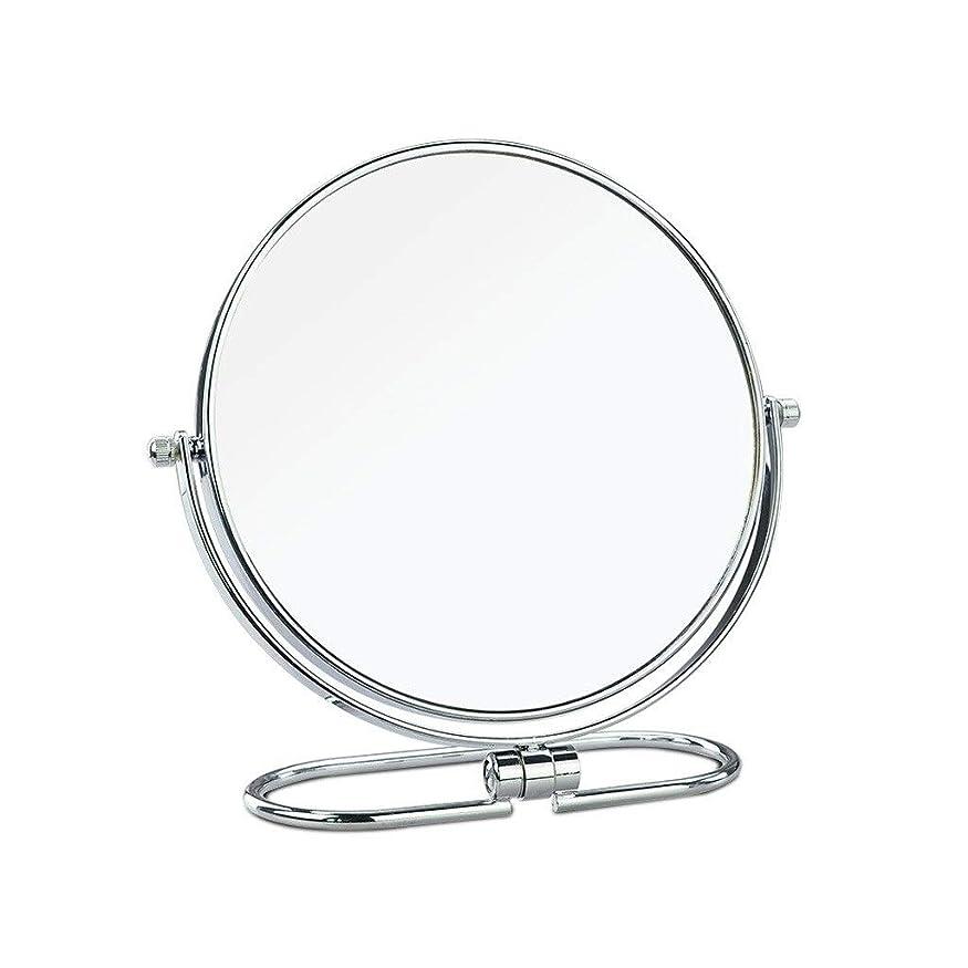 適応的思慮深い唯一化粧鏡 ステンレス製の化粧鏡、ラウンドの高級卓上化粧鏡、HDミラー、8インチ