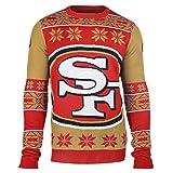 KLEW NFL San Francisco 49ers Big Logo Ugly Sweater, X-Large