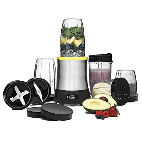 BELLA (13984) 15 Piece Rocket Extract PRO Power Blender Set, Stainless Steel