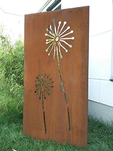 Zen Man Garten Sichtschutz aus Metall Rost Gartenzaun Gartendeko edelrost Sichtschutzwand 031654-1 150 * 75 * 2cm