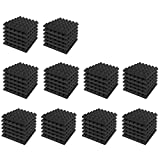 EXCELLENT SOUND ABSORPTION: Pyramid Acoustic Foam Panels are made with original acoustic polyurethane open cell technology to absorb all the kinetic energy of the sound and convert them to heat energy. The angles and software cutting of the product i...