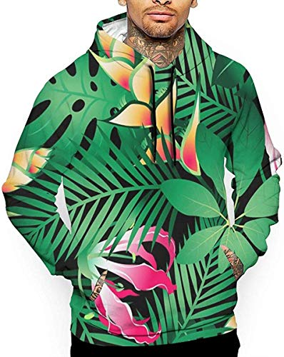 1Zlr2a0IG PecoStar Tropical Hibiscus Flowers Unisex Funny 3D Print Drawstring Pullover Hoodie Sweatshirt with Kangaroo Pocket