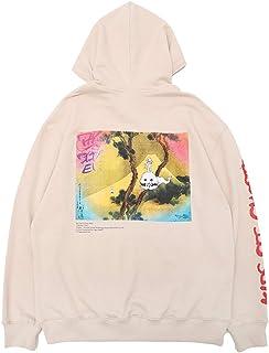 Kanye Kids See Ghosts Hooded Sweatshirts Hip Hop Graphic Trendy Print Letter Hoodies Hooded Outwear