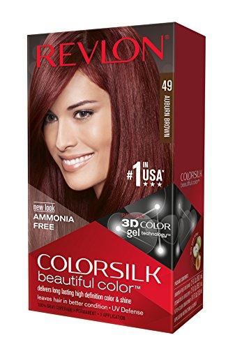 Revlon ColorSilk Haircolor, Auburn Brown, 1 Application (Pack of 3)
