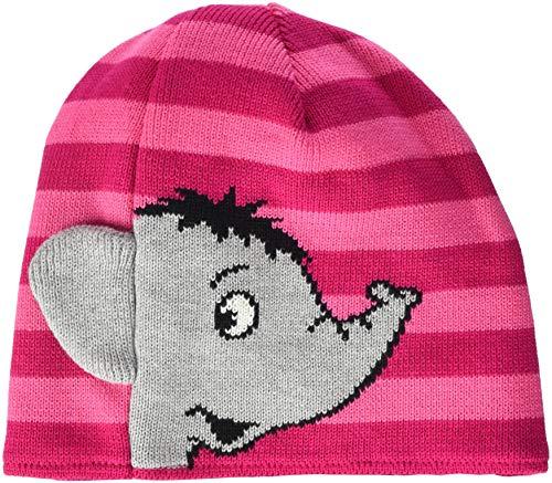 maximo Baby-Mädchen 73578-200800, Beanie, Elefant Mütze, Pink (Dunkelpink/Fandango...