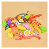 Letaowl Juguete de Cocina Niños Cocina Pretend Play Toys Corte Fruta Vegetal Alimento Play Miniatura Do Casa Educación Juguete Regalo para Niño Niño (Color : 22PCS and Gray Pot)
