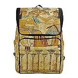 Mochila Mochila Mochila de Viaje Bolsa de Libros de papiro Egipcio Antiguo Bolsa de Viaje Informal Impermeable