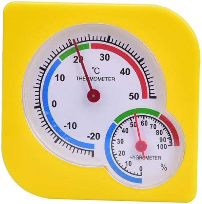 HSHKONG Indoor Outdoor Square Thermometer Dial Quantity limited Cheap mail order shopping Double Hygrometer