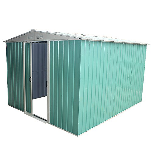 Panana 8 x 6ft Metal Garden Apex Roof Storage Shed with FREE Ground