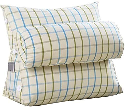 Almohadas de Lectura Cabecero trasera de la ayuda de almohadas, simple cuña triangular moderno Posicionamiento Soporte amortiguador trasero del amortiguador del resto del sofá Silla de oficina banda s