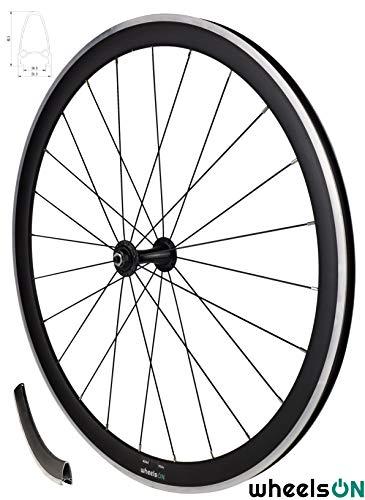 700c Road Racing Bike Front Wheel 40 mm Deep Aluminium Black Rim Brake Quick Release