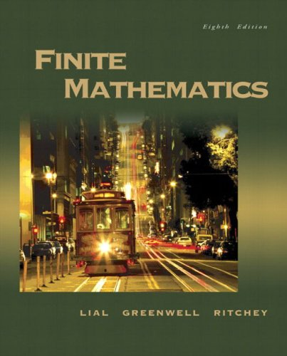 Compare Textbook Prices for Finite Mathematics 8 Edition ISBN 9780321228260 by Lial, Margaret L.,Greenwell, Raymond N.,Ritchey, Nathan P.