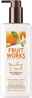 Fruit Works Mandarin & Neroli Cruelty Free & Vegan Hand & Body Lotion With Natural Extracts 1x 500ml