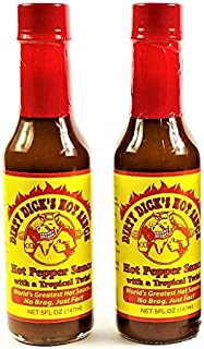 Dirty Dick's Hot Pepper Sauce with a Tropical Twist - 5 Fl Oz (2 PACK)
