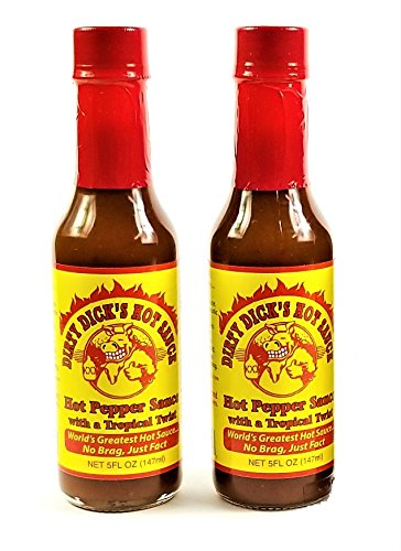 Dirty Dick's Hot Pepper Sauce with a 2 Oz Tropical Fl - Twist Denver Mall 5 ☆ very popular 5