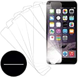 eTECH Collection 5 Pack of Crystal Clear Screen Protectors for Apple iPhone 6s plus and iPhone 6 Plus 5.5 Inches Model, ATT, T-Mobile, Sprint, Verizon