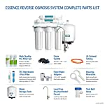 APEC Water Systems ROES-50 Essence Series Top Tier 5-Stage Certified Ultra Safe Reverse Osmosis Drinking Water Filter… 16 Supreme quality - designed, engineered, and assembled in USA to guarantee water safety & your health. Only technology to remove up to 99% of contaminants such as chlorine, taste, odor, VOCs, as well as toxic fluoride, arsenic, lead, nitrates, heavy metals and 1000+ contaminants. Max Total Dissolved Solids - 2000 ppm. Feed Water Pressure 40-85 psi WQA Certified System. Premium long-lasting filters used to treat tap water, well water. Provide unlimited clean, refreshing crisp tasting water superior to bottled water