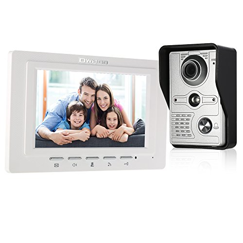 OWSOO Videocitofono 7 Pollici Cablata Video Door Phone Monitor Interno con IR-Cut...