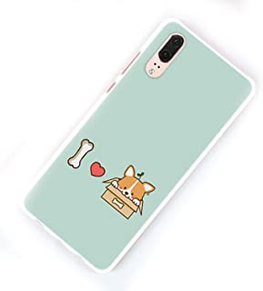 Cute Shiba Corgi Dog Design Hard White Phone Case for Huawei P20 P20 Lite P Smart P10 P8 P9 Lite 2017 P10Lite