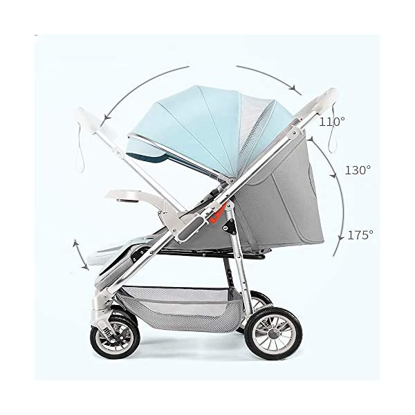 3-in-1 Adjustable Stroller The Stroller Can Be Converted into A Chair That Can Be Turned and Tilted High-Quality Foldable and Portable New Baby Multifunctional Strollercool and Breathable Stroller Makeups Function: 3 in 1; color is blue; compatibility: 0-42 months baby; load capacity: 0-15 kg. Sit or lie down comfortably at home, shopping or traveling. Easy to fold: A case that can be easily and quickly folded with only one hand. The size is reduced, which is ideal for travel and trunk space. The seat can be flipped, the baby can face you or on the street; the car seat can be divided into 3 levels of tilt: 100°-145°-180° (sitting, tilting and sleeping). 4