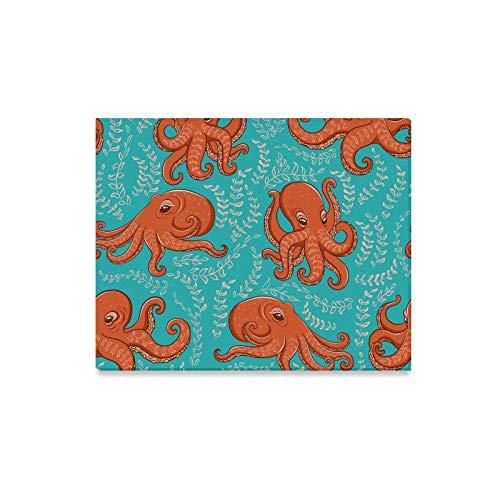 Yushg Home Wandkunst Octopus Magic Fantasy Wandfarbe Einzigartige Kunst Wanddekoration Print Dekor für Zuhause 20x16 Zoll