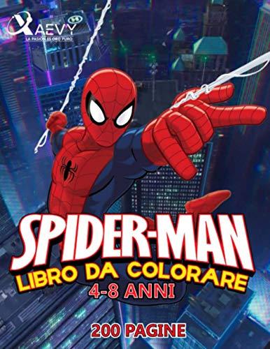 SPIDER MAN LIBRO DA COLORARE 4-8 ANNI
