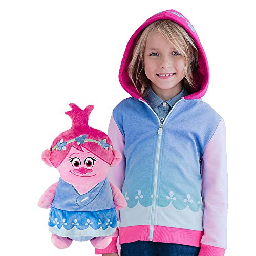 Cubcoats Poppy the Troll - 2-in-1 Transforming Classic Zip-Up & Soft Plushie - Pink