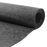 HOMCHEK 40' × 78' Grey Speaker Box Carpet Resists Stains Non-Woven Fabric Cover for Car Truck Speaker Sub Home Auto RV Boat Marine Interior Carpet Liner 21.12 Sqft.