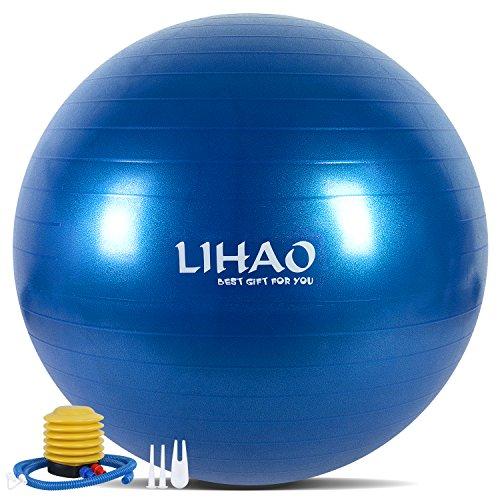 LIHAO バランスボール 空気入れ付き B01LAS4RFO 1枚目