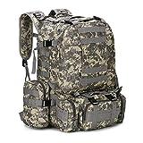 ShiDaTong 25-50L戦術バックパックメンズ軍事リュックサックハイキングトレッキングバックパック旅行スポーツバッグアウトドアクライミングバッグ (Color : ACU 50L)
