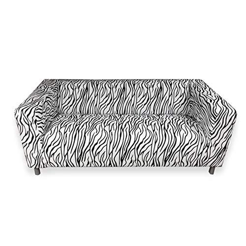 KAO Mart Removable Sofa Slipcover Cover Fits Only for IKEA Klippan Sofa Zebra Animal Print