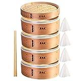 Hcooker Profundizar 4 Capas Vaporizador de Madera para Cocina con Bandas de Acero Inoxidable para Cocina Asiática Bollos Empanadillas Verduras Pescado Arroz