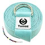 Tumaz Yoga Gurt/Yoga Strap [15+ Farben, 180/240/313 cm] Baumwolle mit Extra Sicherer, Einstellbarer...