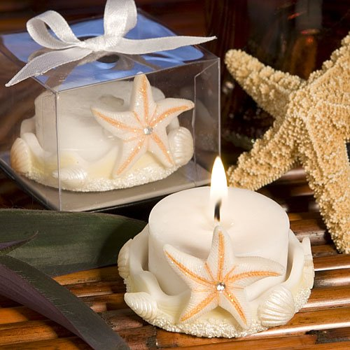 Starfish Design Favor Saver Candles, 30