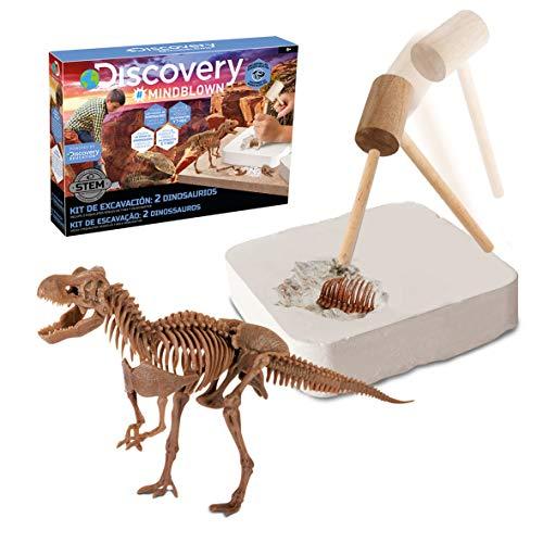 Discovery Kids Juego Excavación Fósiles T-Rex Velociraptor