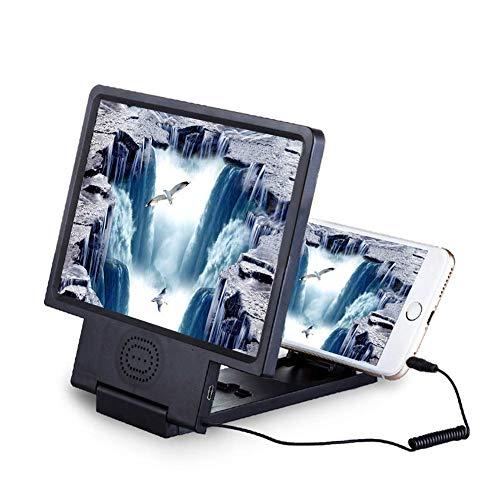 Lupas, lupa de pantalla de teléfono móvil de escritorio, amplificador de ampliación de video de películas en 3D con función de altavoz y soporte de soporte plegable para Iphone Todos los demás teléfo