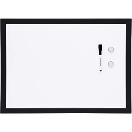 Amazon Basics Magnetic Framed Dry Erase White Board, 17 x 23 Inch
