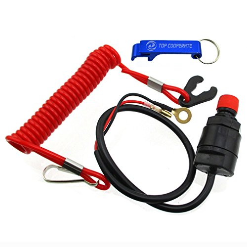TC-Motor Safety Tether Lanyard Kill Stop Switch For Outboard Motor Boat Jet Ski