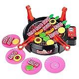 Rclhh Kinder Kche Pretend Play Set - Simulation Elektrischer Grill Herd Spielzeug Baby-Kche Eltern-Kind-Interactive Spielzeuge, Lernspielzeug Fr 2 3 4 Jahre Alten Mdchen, Jungen