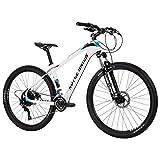 Royce Union Lightweight Carbon Mountain Bike, Gloss White, 27.5 inch Wheels / 16.5 inch Frame (76109)