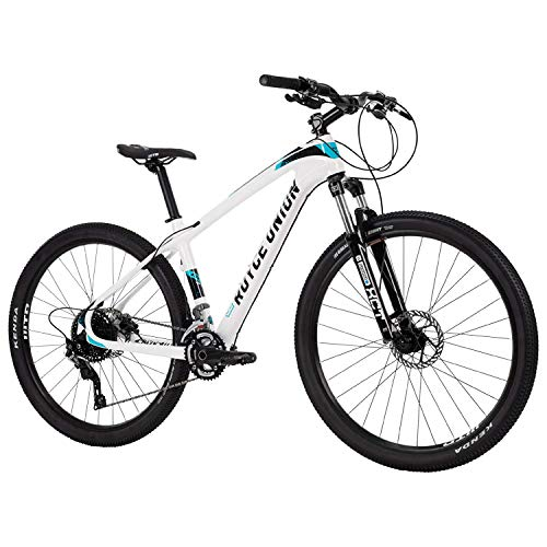 Royce Union Lightweight Carbon Mountain Bike, Gloss White, 27.5 inch Wheels / 16.5 inch Frame (76109)