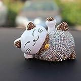 libelyef Solar Wackel Figur, Cartoon Glückliche Katze Puppe, Solar Wackelfigur, Solar Tanzen Auto...