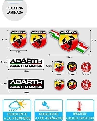 Pegatina Adhesivo Sticker ADESIVO AUFKLEBER Decals AUTOCOLLANTS Compatible con Abarth Vinilo Laminado Coche Ref 1