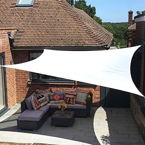 XRDSHY Sun Shade Sail Garden Weiß Wasserdicht UV UV Sonnenschutz Screen Markise Markise Pavillon Baldachin Pergola Patio Outdoor Indoor,White-2X2m