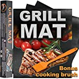 D&S Group Grill Mat - Set Of 3 BBQ Grilling Mats For All Types Of Grills – Grill Mats - Heat...