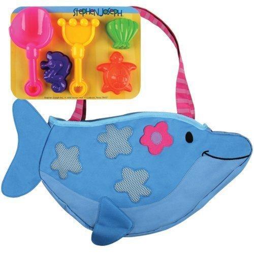 Dolfijn tas met vormpje voor op het strand of zandbak
