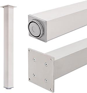 comprar comparacion Pata extensibles de mesa, 100% aluminio   Sossai® Exclusivo E4TBAL   Perfil: plaza   Incluidos accesorios de montaje   1 u...