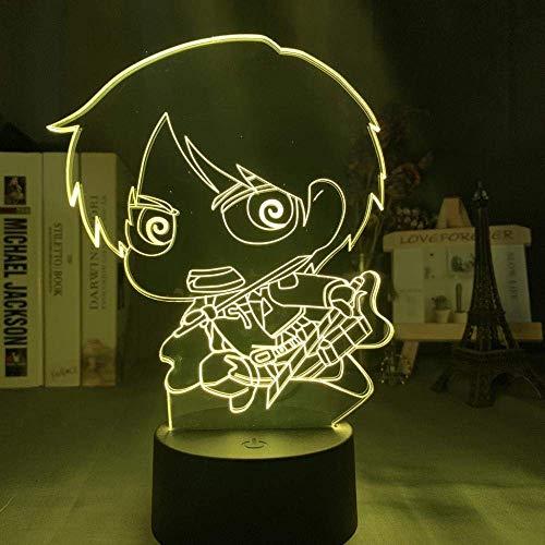 3D nachtlampje acryl 3D nachtlampje gigantische Q-versie karakter slaapkamer decoratie licht-16 kleur crack Llen Q.