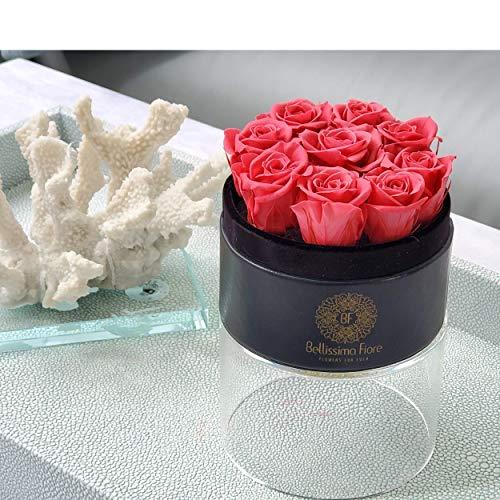 Bellissima Fiore Rosa Eterna Preservada Color Rosa | Regalo Cumpleaños, Aniversario, Sant Jordi, San Valentín, Dia de la Madre, Bodas, Novia, Pareja | Flores Preservadas Decoración Hogar y Oficina
