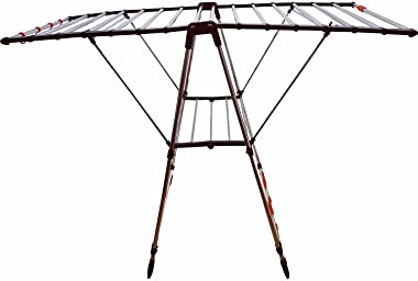 Flipzon Stainless Steel Cloth Drying Stand - Winsome - Pre-Assembled, Foldable (Make in India)